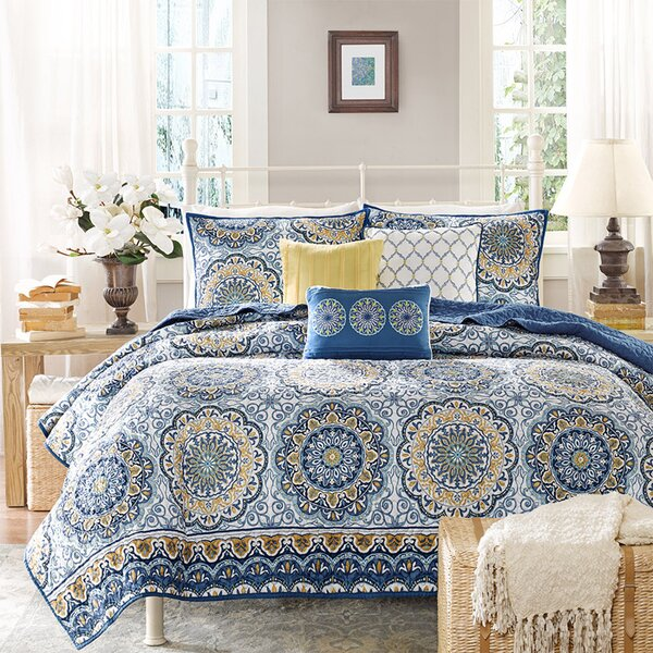Dhawan 6 Piece Reversible Coverlet Set by World Menagerie