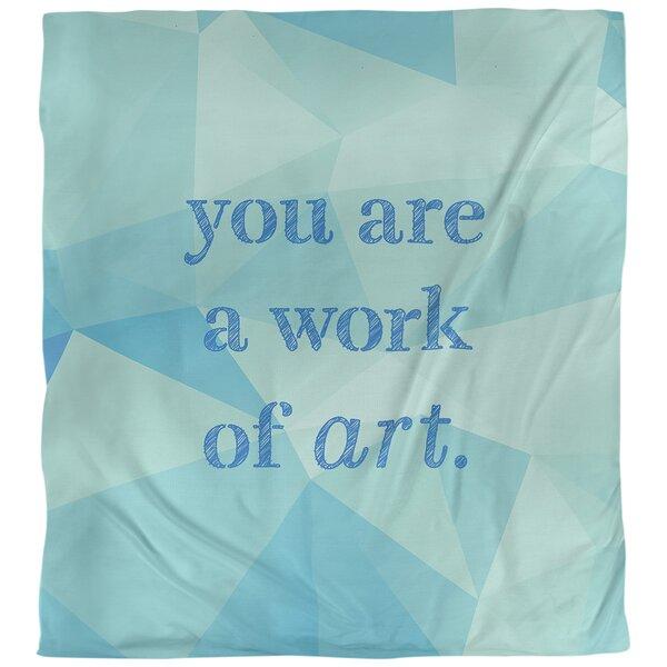 Work of Art Quote Single Duvet Cover