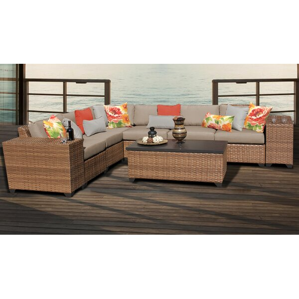 Medina 9 Piece Sectional Seating Group with Cushions by Rosecliff Heights