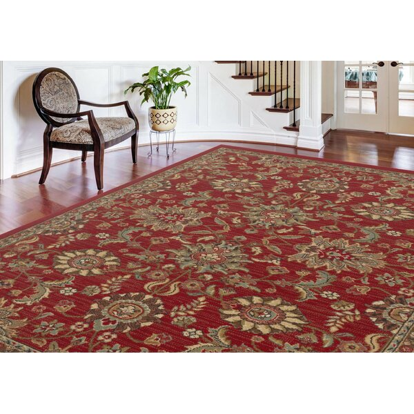 Treadway Red Area Rug by Three Posts