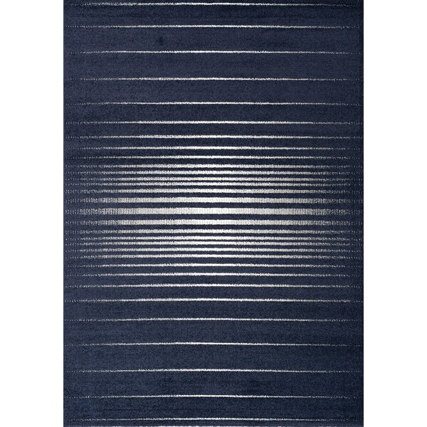 Saxon Blue/Cream Area Rug by Wrought Studio