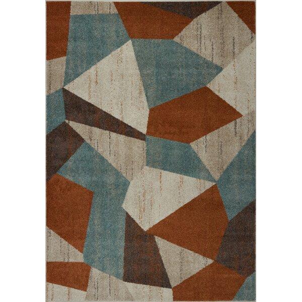 Vogler Cream/Brown/Blue Area Rug by George Oliver