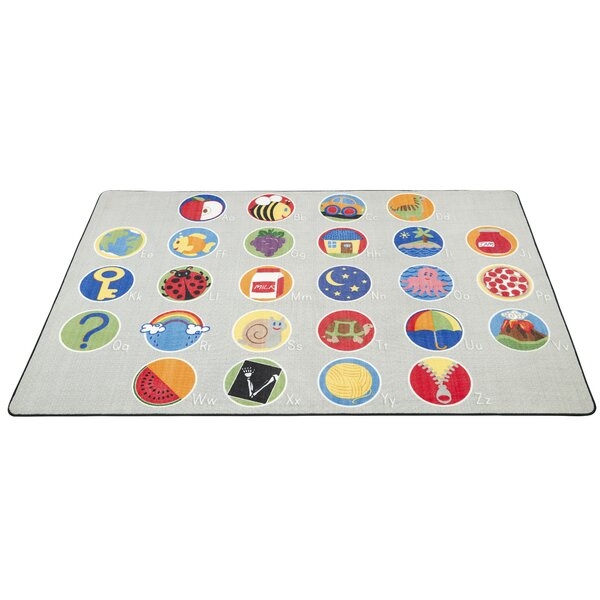 A-Z Activity Seating Gray Area Rug by ECR4kids