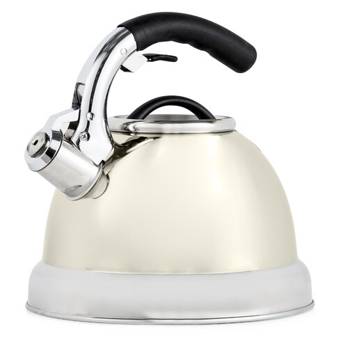 Essential 3L Stainless Steel Whistling Stovetop Kettle Tower