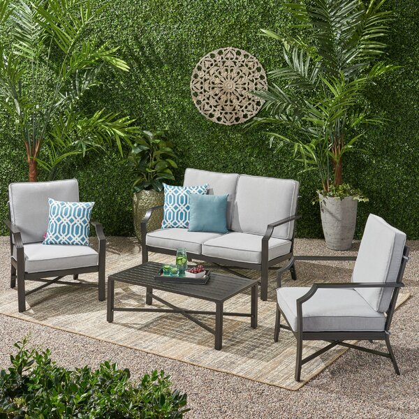 Revilla 4 Piece Multiple Chair Seating Group by Canora Grey