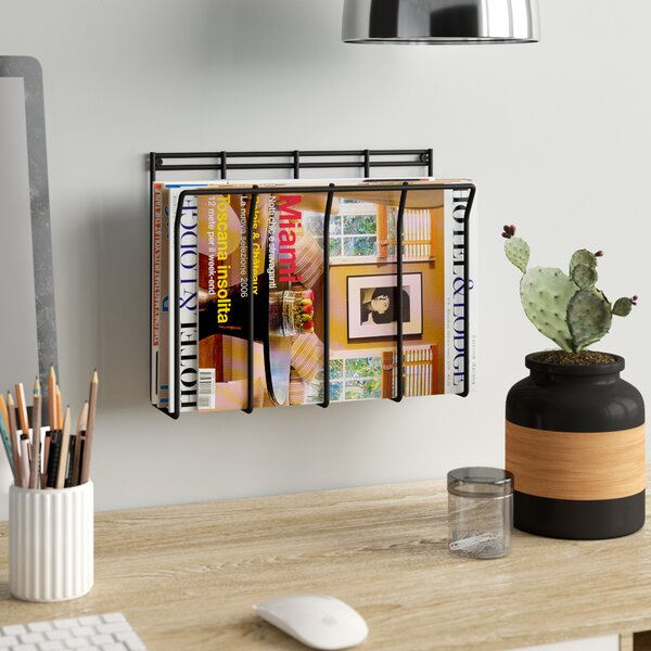 Wall Mount Wire Magazine Newspaper Caddy By Rebrilliant.