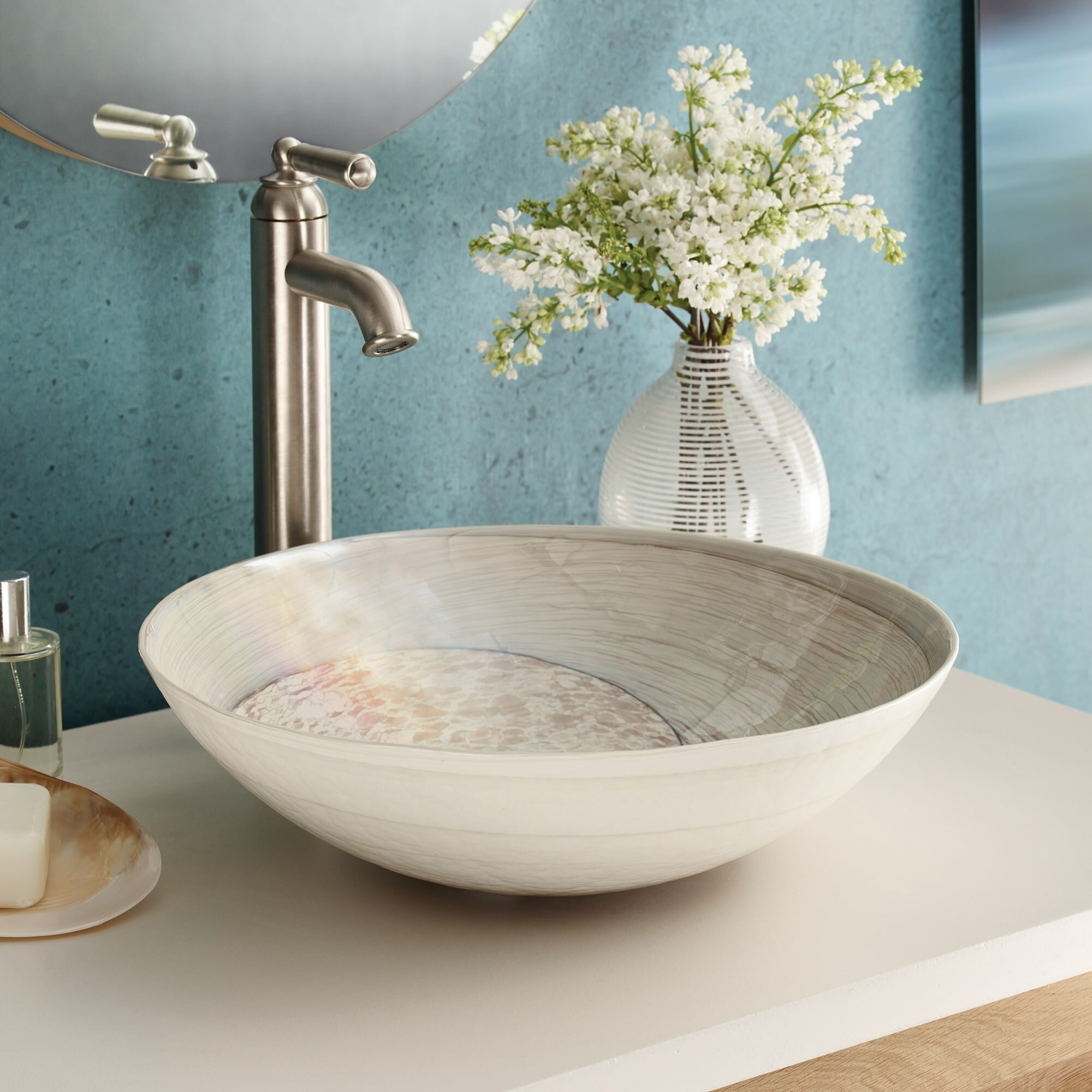 Native Trails Murano Glass Circular Vessel Bathroom Sink Wayfair
