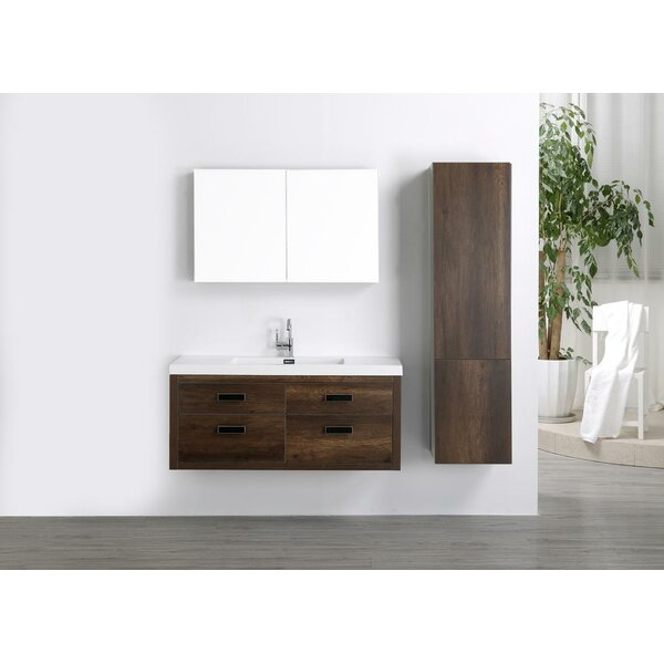 47 Wall Mounted Single Bathroom Vanity Set with Mirror by Streamline Bath