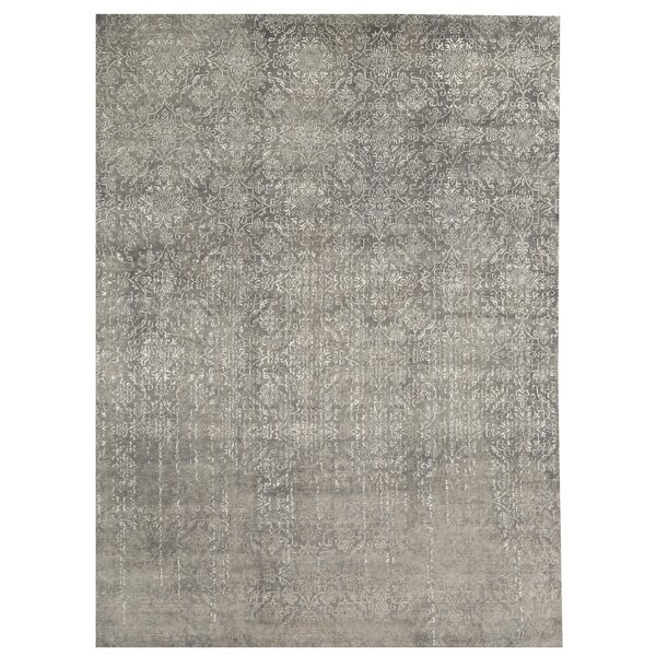 One-of-a-Kind Neo Villa Hand-Knotted Gray 9'10 x 13'5 Area Rug