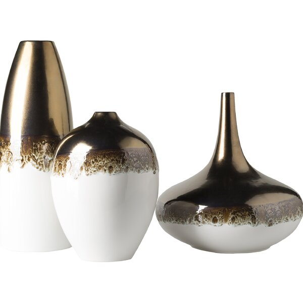 3 Piece Ceramic Table Vase Set by Brayden Studio