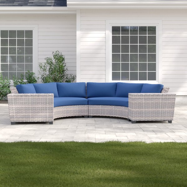 Merlyn 4 Piece Sectional Seating Group with Cushions by Sol 72 Outdoor