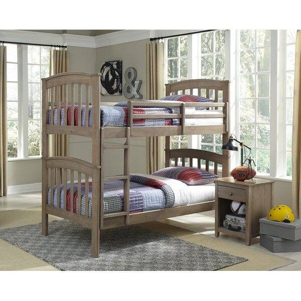 Gena 2 Piece Twin Over Twin Bunk Bed by Harriet Bee