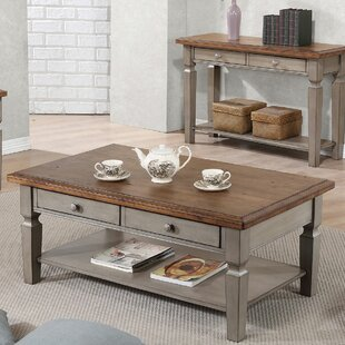 Farmhouse Rustic Coffee Tables Birch Lane - Grey distressed wood coffee table