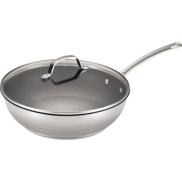 Stainless Steel 12.75 Non-Stick Skillet with Lid by Circulon