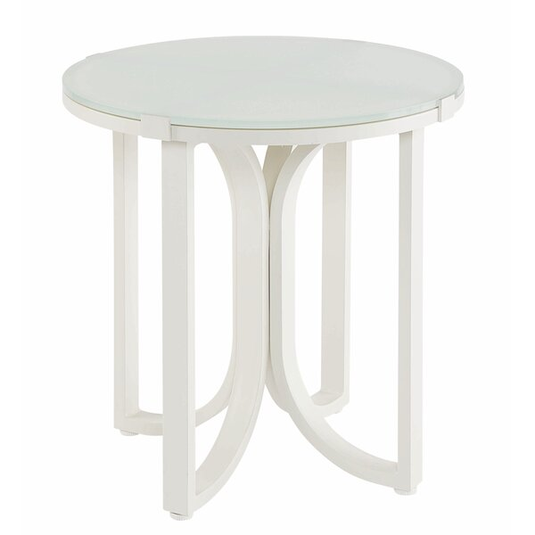 Dani Outdoor End Table by Highland Dunes