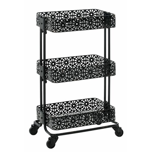Homer Metal Bar Cart by World Menagerie World Menagerie