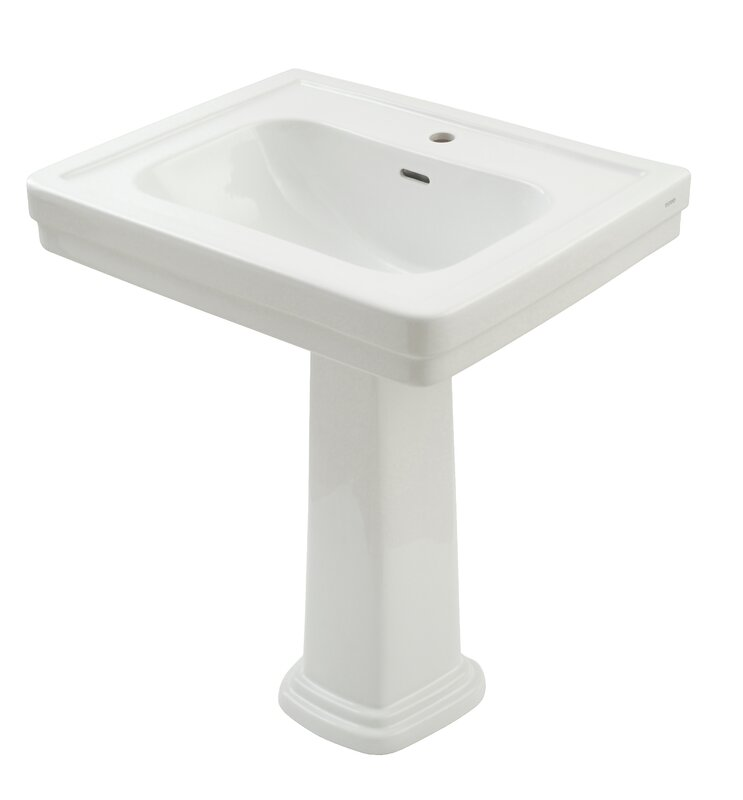 "Bathroom Sinks Reviews toto promenade 28"" pedestal bathroom sink with overflow & reviews"