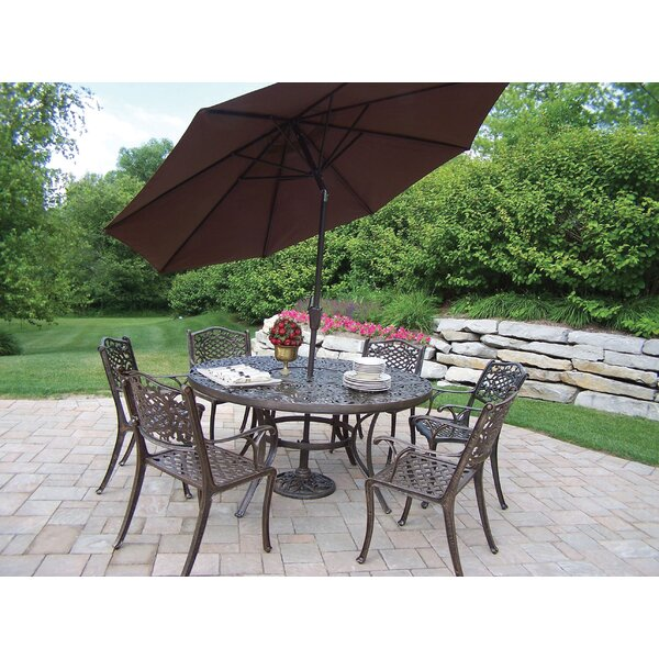 Mississippi Dining Set with Umbrella by Oakland Living