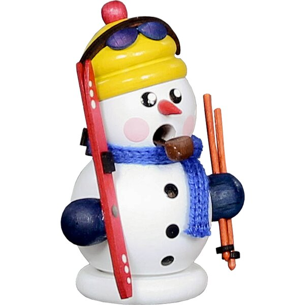 Dregeno Snowman Skier Incense Burner by The Holiday Aisle