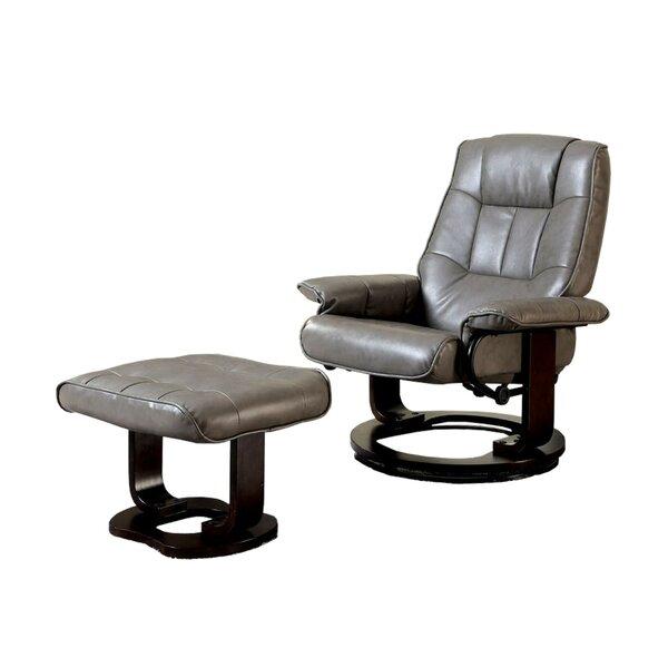 Rivenbark Swivel Lounge Chair and Ottoman by Latitude Run