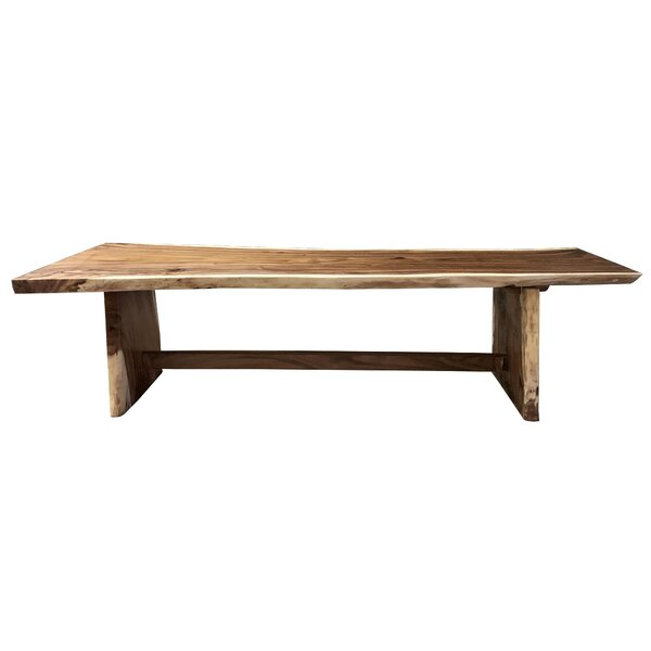 Darryl Single Piece Slab Live Edge Solid Wood Dining Table by Loon Peak