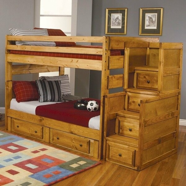 Culbreath Full Over Full Bunk Bed with Drawers by Zoomie Kids