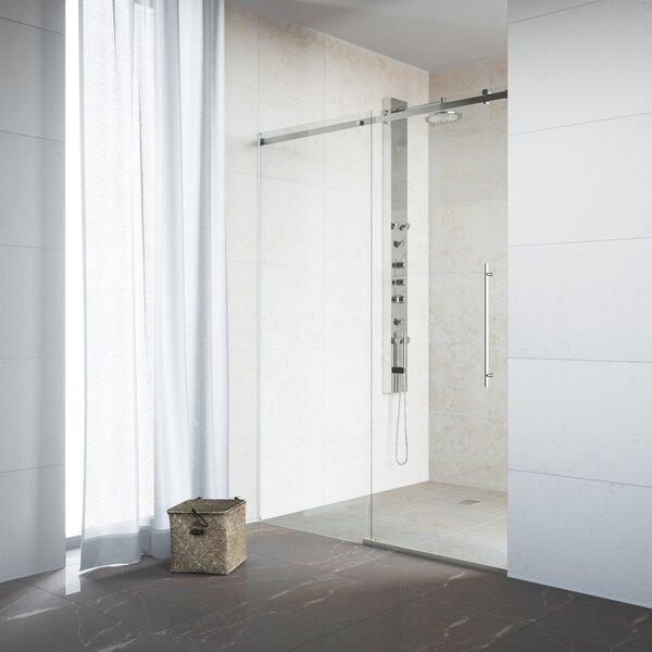 Luca 31.5 x 74 Single Sliding Frameless Shower Door by VIGO