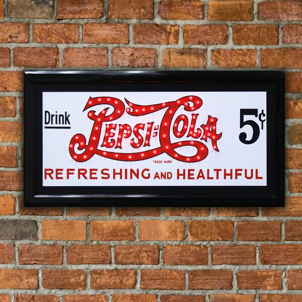 Drink Pepsi Cola Refreshing and Healthful LED Marquee Sign by Crystal Art Gallery