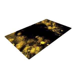 Ingrid Beddoes Moonlight Dandelion Black/Yellow Area Rug