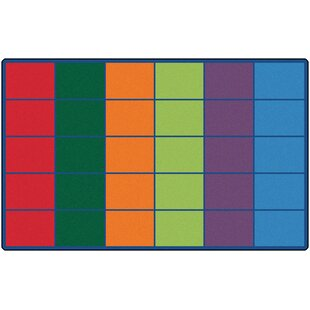Affordable Emmanuelle Colorful Rows Seating Area Rug ByZoomie Kids
