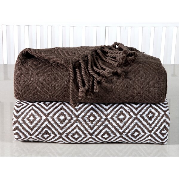 Gardin Diamond Weave Cotton Throw by Bungalow Rose