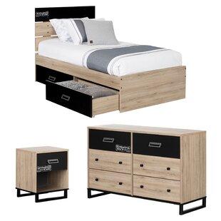 Induzy Industrial Twin Platform Configurable Bedroom Set BySouth Shore