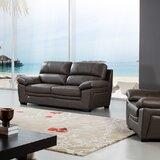 Uecker Leather Sofa by Latitude Run