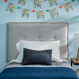 Samuel Twin Upholstered Panel Headboard by Home Loft Concepts