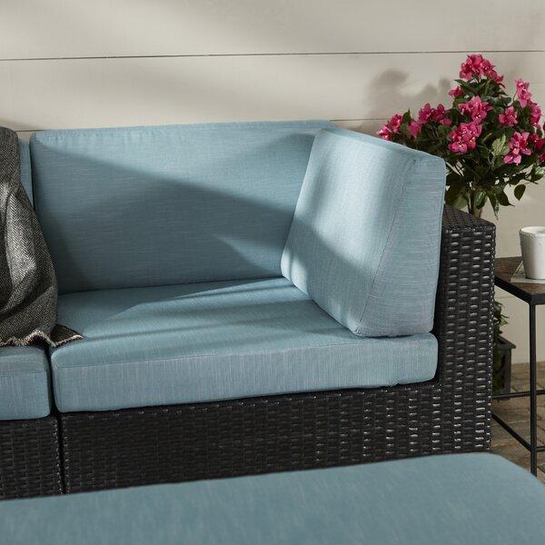 Chretien Patio Corner Seat Chair with Cushion by Brayden Studio