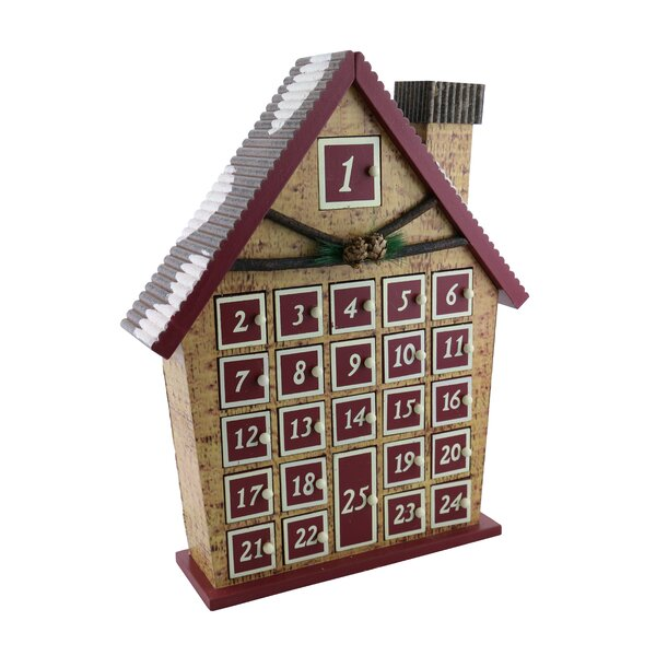 Log Cabin Advent Calendar Countdown to Christmas by The Holiday Aisle