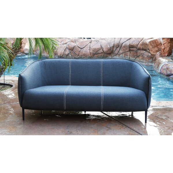 Emory Outdoor Patio Sofa with Sunbrella Cushions by Brayden Studio