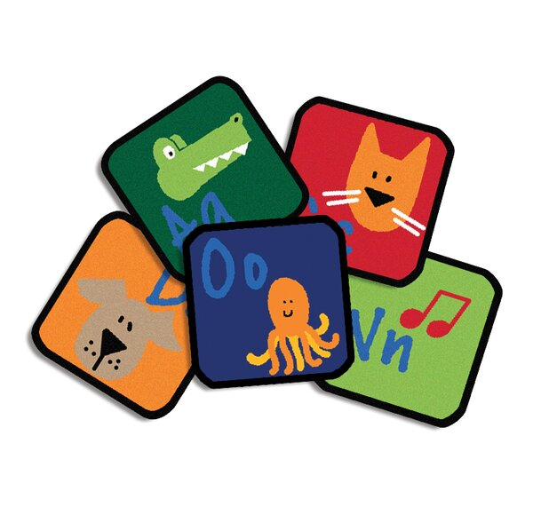 Learning Blocks Kids Rug (Set of 26) by Carpets for Kids