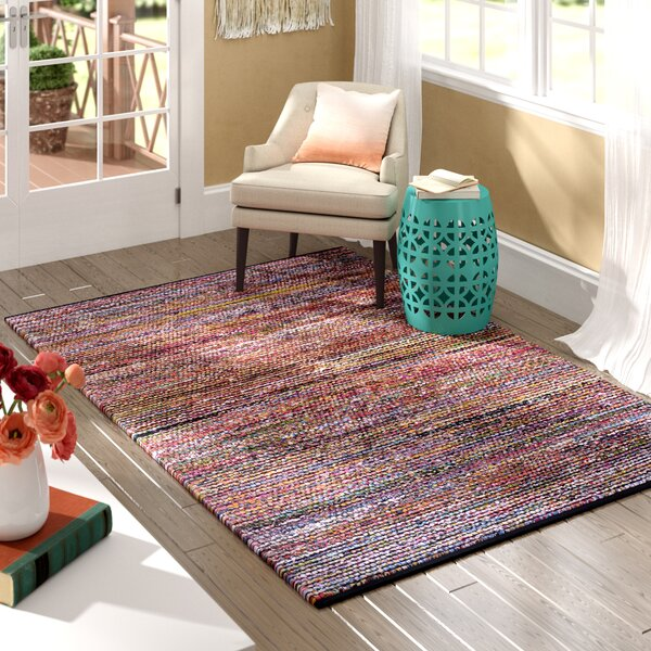Weber Hand-Woven Blue/Red Area Rug by World Menagerie