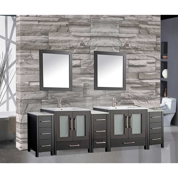 Larosa 84 Double Bathroom Vanity Set