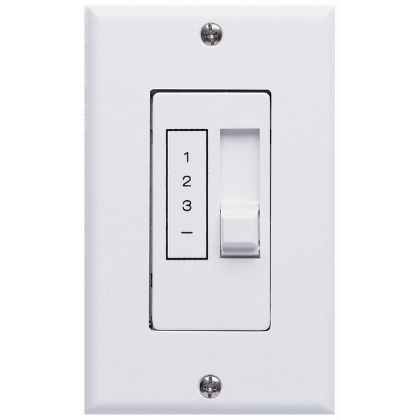 Three Speed Ceiling Fan Slide Wall Control Unit in White by Concord Fans