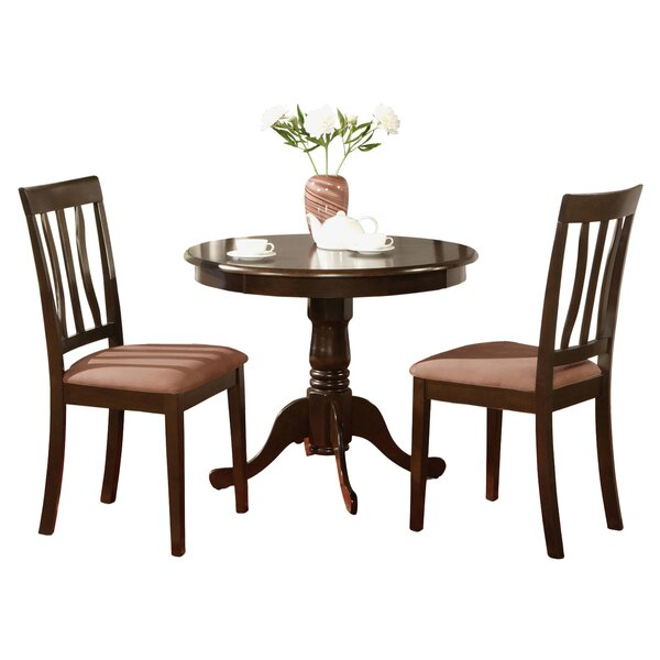 Woodward 3 Piece Bistro Set by Three Posts