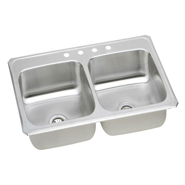 Gourmet 43 L x 22 W Top Mount Kitchen Sink by Elkay