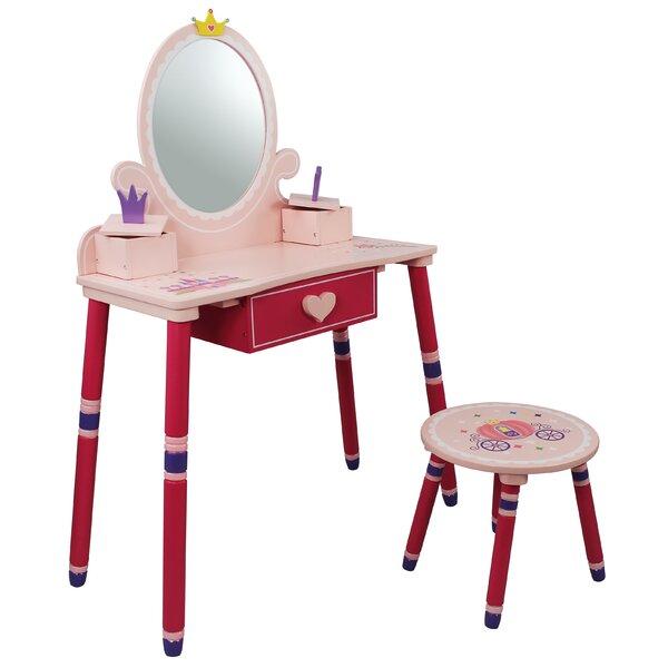 Princess Vanity Set with Mirror by Teamson Kids