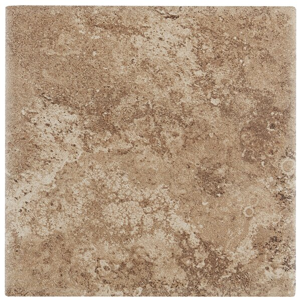 Remington 6 x 6 Ceramic Field Tile in Truffle Field by Itona Tile