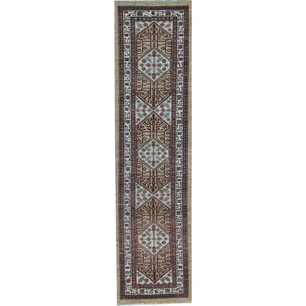 Hand Knotted Wool Gold/Cream Rug
