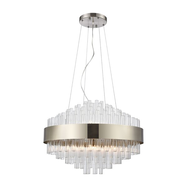 Morcant 11 - Light Unique Geometric Chandelier By Orren Ellis