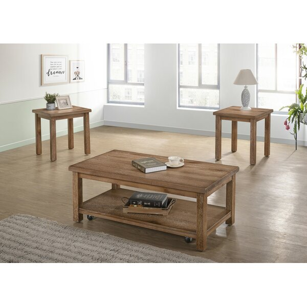Tapley 3 Piece Coffee Table Set by Millwood Pines
