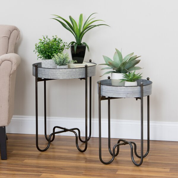 Dilley 2 Piece Metal Plant Table Set by Williston Forge