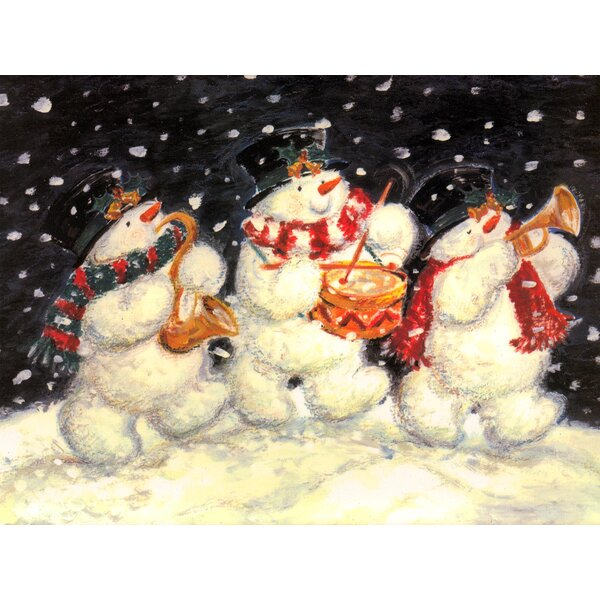 1 Snowman Trio & 1 Holly Border (Set of 2) by McGowan